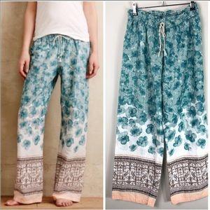 Anthropologie Eloise Swiss dot cotton pajama pants